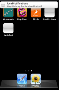 Local Notifications iOS example